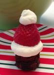 brownie santa hat